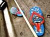 beach-sandals-blue-wall-